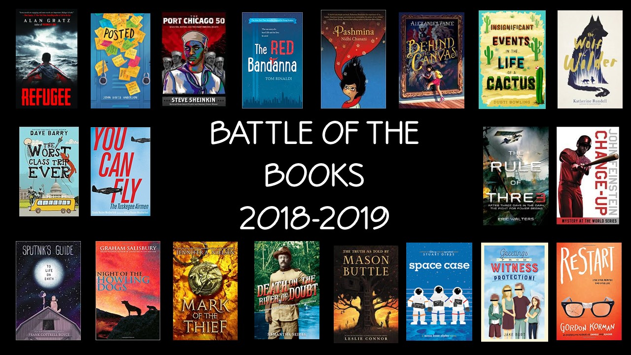 Battle of the Books Covers 18-19