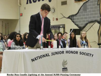Rocky Run Candle Lighting Ceremony at Pinning Ceremony