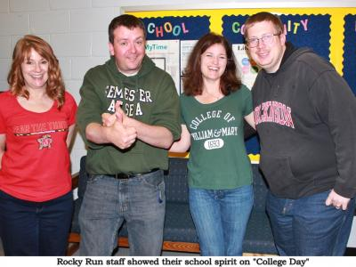"Rocky Run staff and students took part in Chantilly Pyramid ""College Day"""
